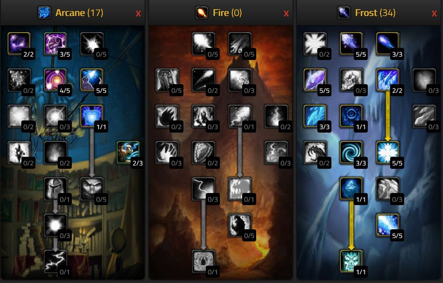 Wow Classic Frost Mage Pve Dps Deep Frost Talents