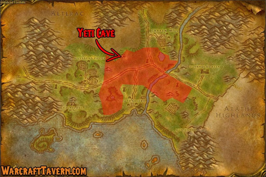 Wow Classic Hillsbrad Foothills Skinning Locations