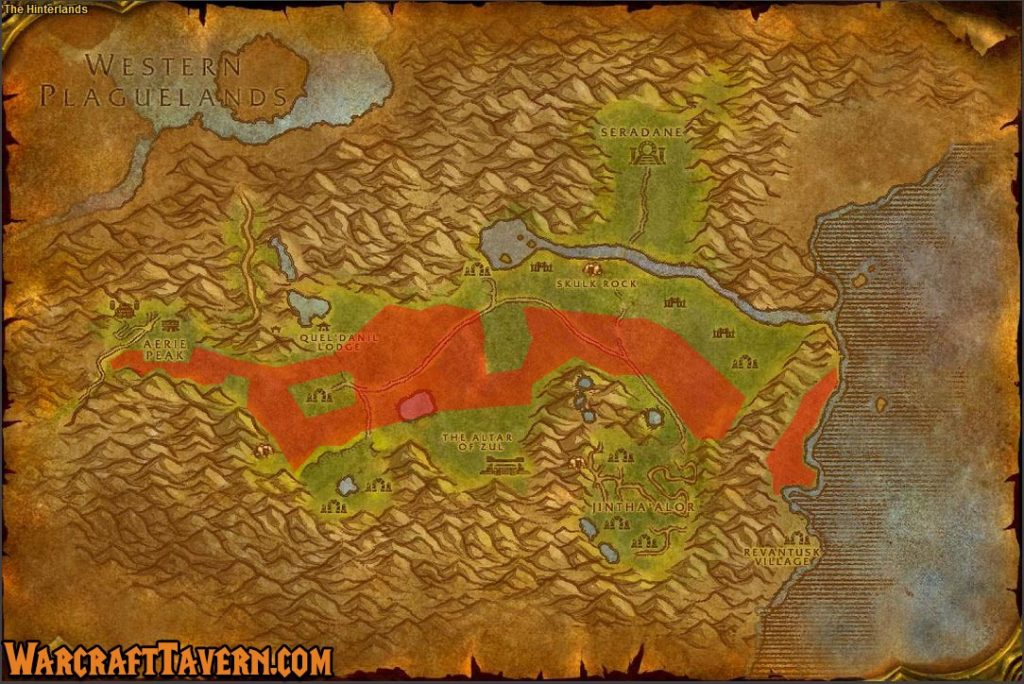 Wow Classic Hinterlands Skinning Locations