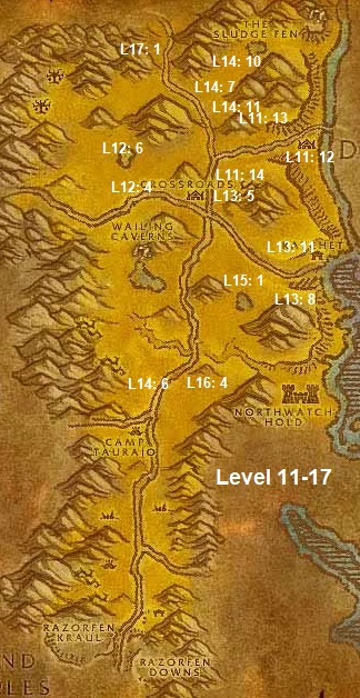 Wow Classic Horde Leveling Guide 11 17 The Barrens