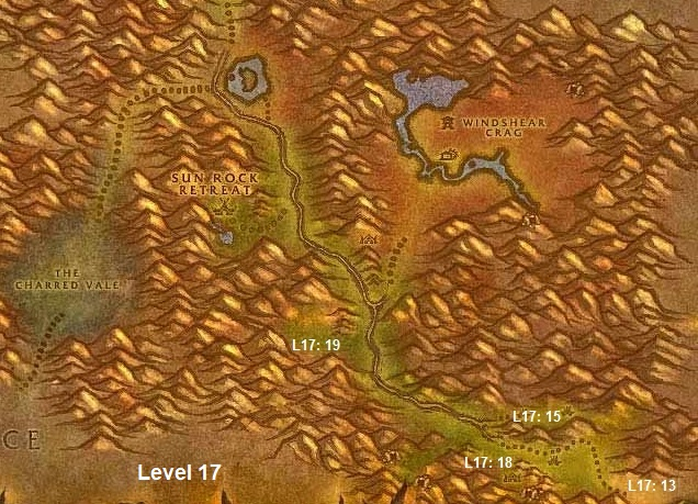 Wow Classic Horde Leveling Guide 17 Stonetalon Mountains