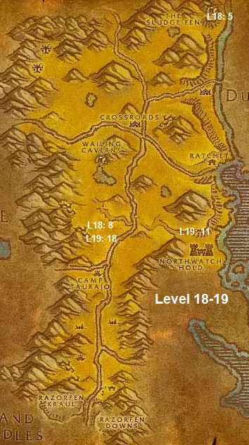 Wow Classic Horde Leveling Guide 18 19 The Barrens