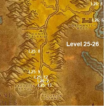 Wow Classic Horde Leveling Guide 25 26 The Barrens