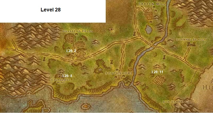 Wow Classic Horde Leveling Guide 28 Hillsbrad Foothills