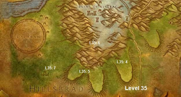 Wow Classic Horde Leveling Guide 35 Alterac Mountains