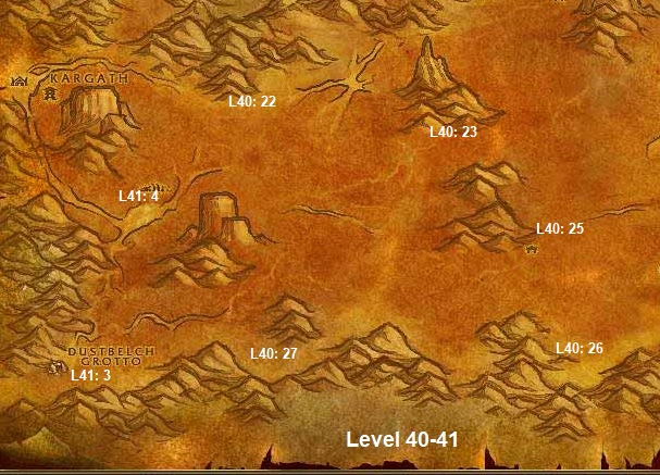 Wow Classic Horde Leveling Guide 40 41 Badlands