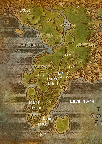 Wow Classic Horde Leveling Guide 43 44 Stranglethorn Vale
