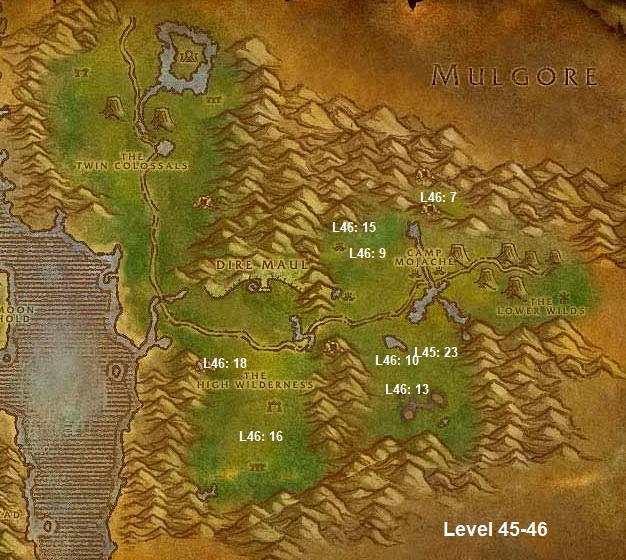 Wow Classic Horde Leveling Guide 45 46 Feralas