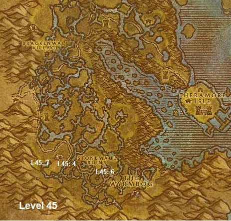 Wow Classic Horde Leveling Guide 45 Dustwallow Marsh