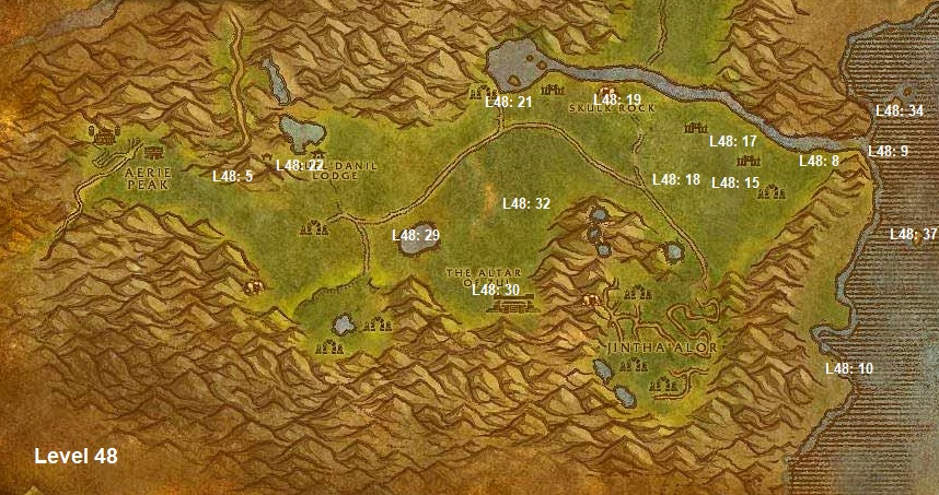 Wow Classic Horde Leveling Guide 48 The Hinterlands