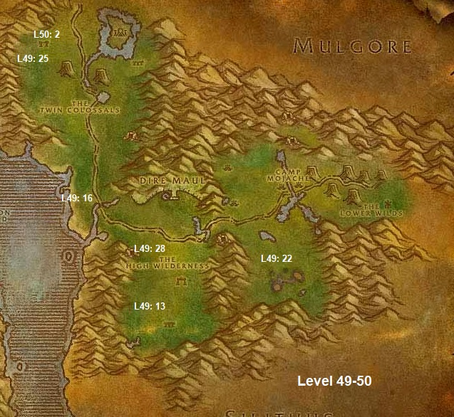 Wow Classic Horde Leveling Guide 49 50 Feralas