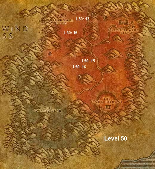 Wow Classic Horde Leveling Guide 50 Blasted Lands