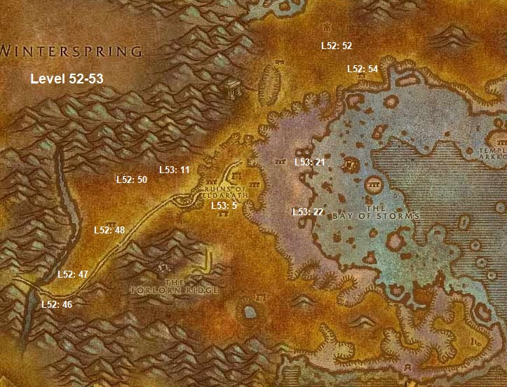 Wow Classic Horde Leveling Guide 52 53 Azshara