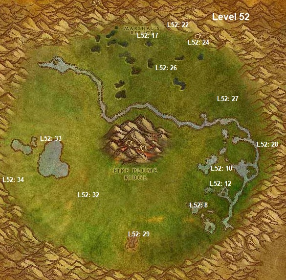 Wow Classic Horde Leveling Guide 52 Un'goro Crater