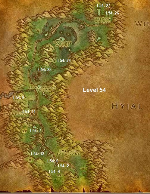 Wow Classic Horde Leveling Guide 54 Felwood
