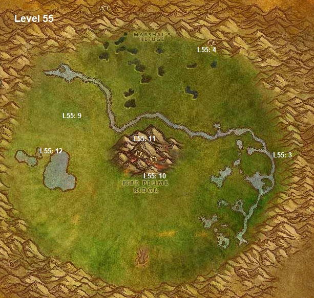 Wow Classic Horde Leveling Guide 55 Un'goro Crater