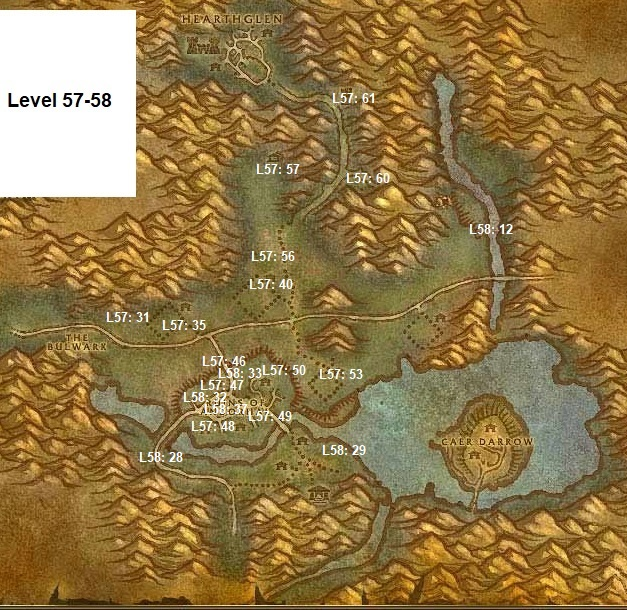 Wow Classic Horde Leveling Guide 57 58 Western Plaguelands