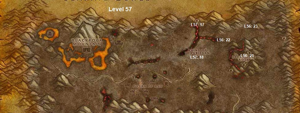 Wow Classic Horde Leveling Guide 57 Burning Steppes