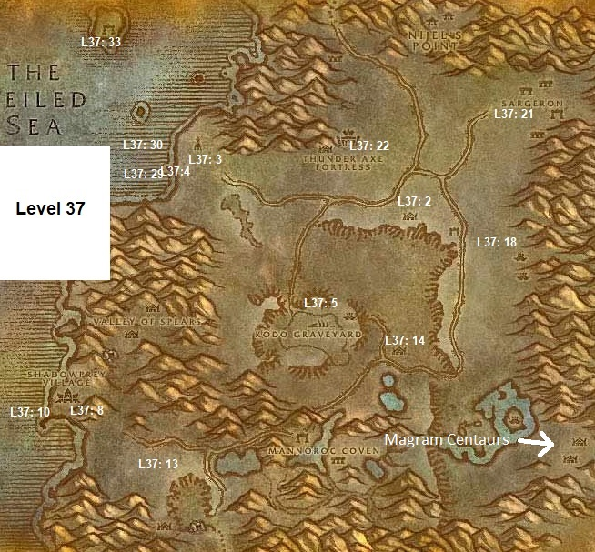 Wow Classic Horde Leveling Guide Level 37 Desolace