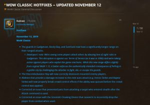 Wow Classic Hotfixes Neutral City Exploits Fixed And More