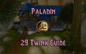Wow Classic Level 29 Twink Paladin Guide