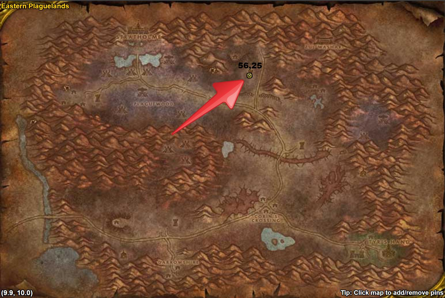 WoW Classic Lordaeron Shrine Location