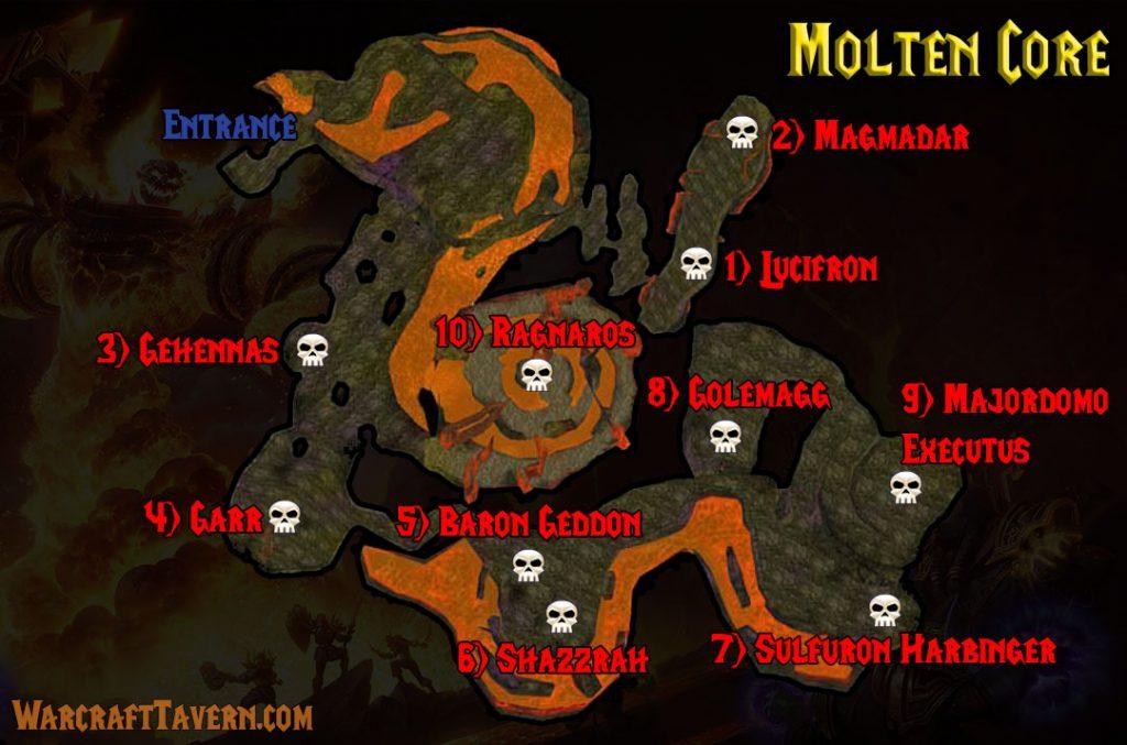 Wow Classic Molten Core Map