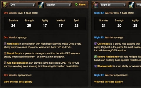 Wow Classic Race Class Comparison Tool