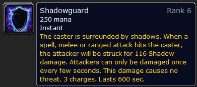 WoW Classic Shadowguard Spell