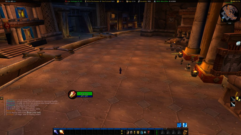 Wow Classic Stress Test Ironforge Bank