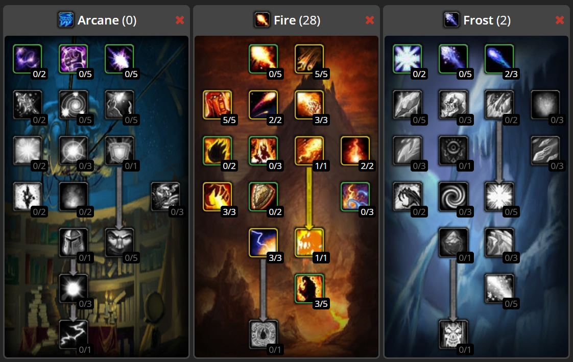 Wow Classic Twink Talent Build Images Mage Deep Fire