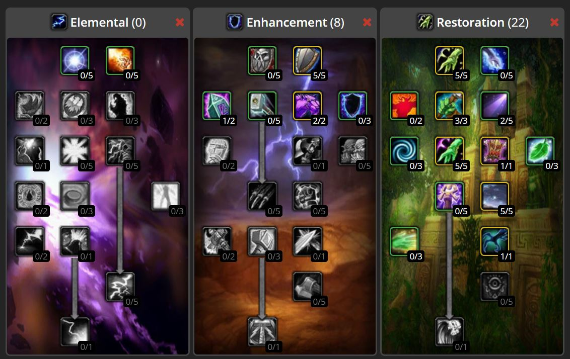 Wow Classic Twink Talent Build Images Shaman Resto Ghost Wolf