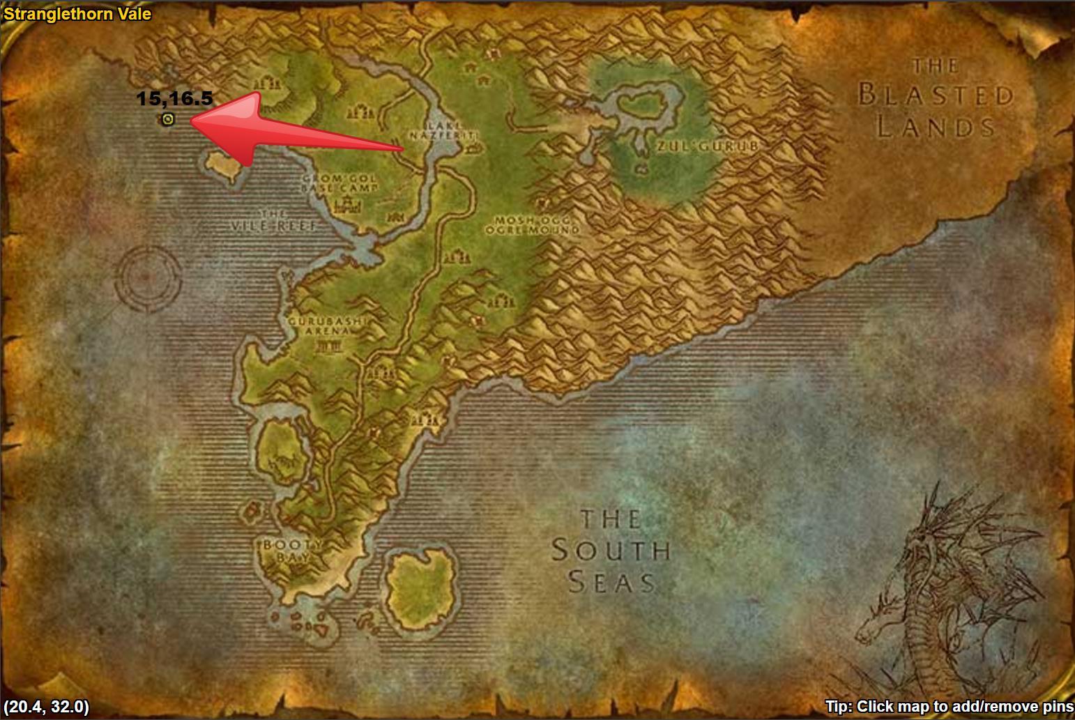 WoW Classic Yojamba Isle Location