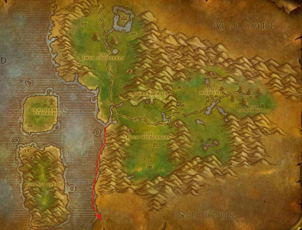Classic How To Get To Silithus Guide Images Feralas Map 2