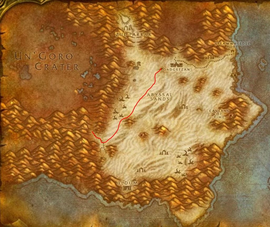 Classic How To Get To Silithus Guide Images Tanaris Map