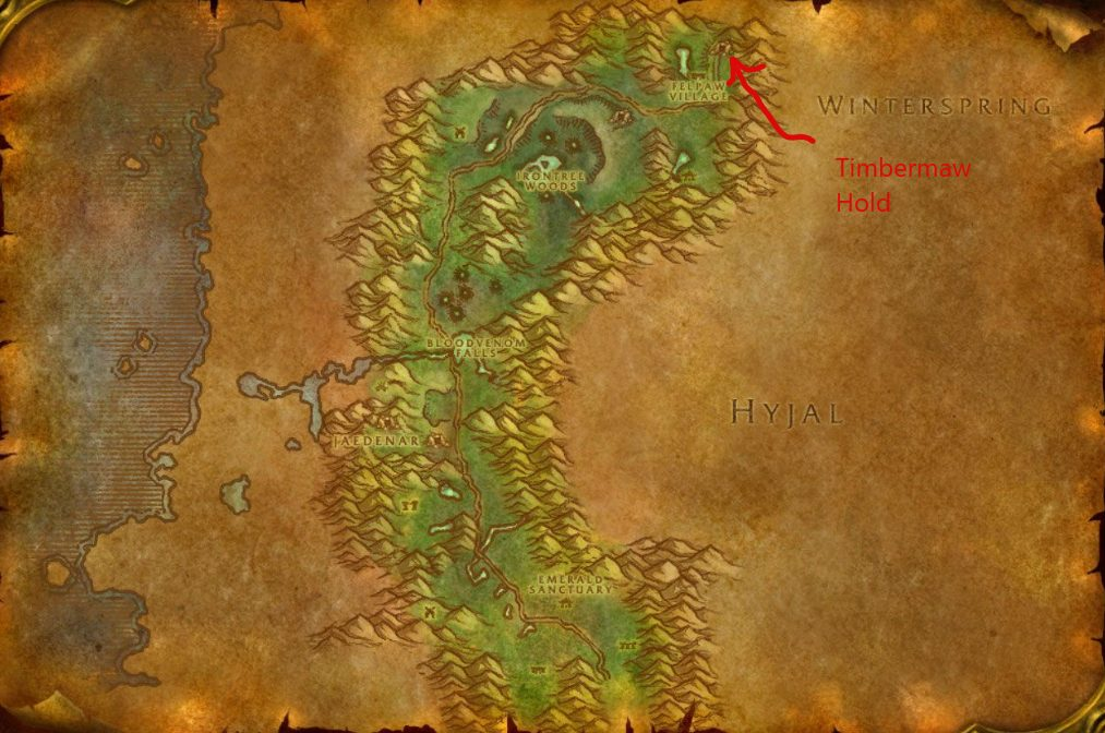 Directions To Moonglade Timbermaw Hold Map