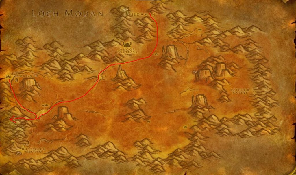 How To Get To Searing Gorge Badlands Map