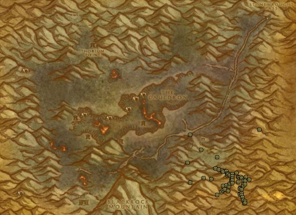 How To Get To Searing Gorge Margols Map
