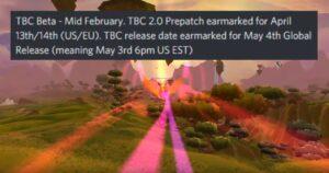 Leak Tbc Classic Beta In Feb, Release In May