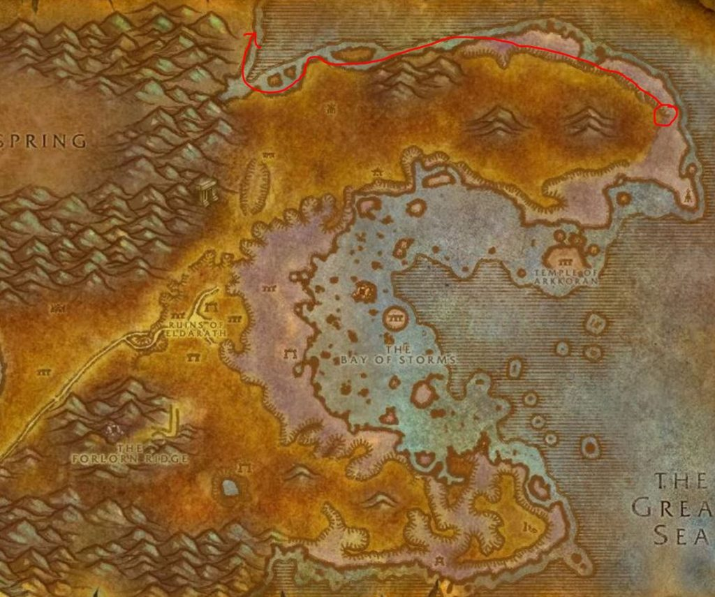 Wow Classic How To Get To Winterspring Guide Images Azshara Map
