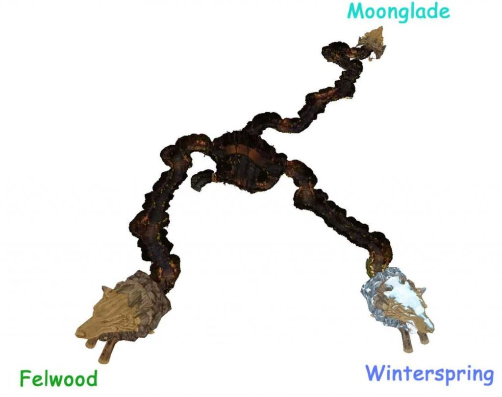 Wow Classic How To Get To Winterspring Guide Images Timbermaw Hold Map