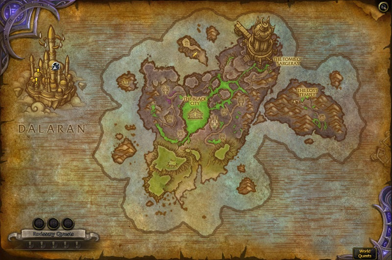 Legion Broken Map Shore