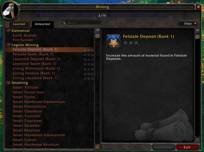 legion profession ranking screenshot