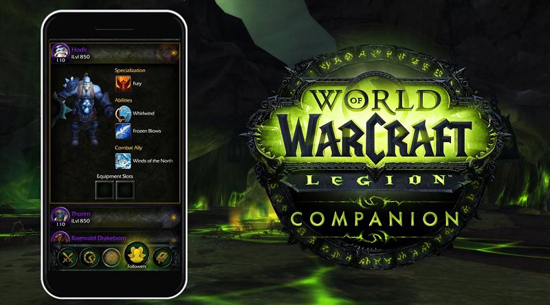 Legion World of Warcraft Companion APp Header