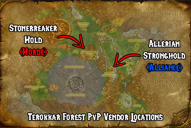 Tbc Classic Terokkar Forest Pvp Vendor Locations