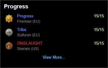 Warcraft Logs Progress