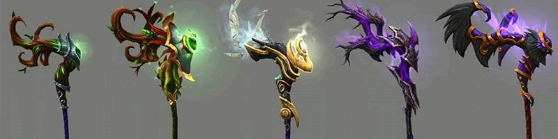 World of Warcraft Legion End Game Artifact Weapons