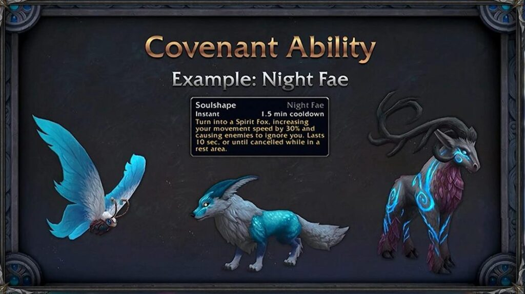 World Of Warcraft Shadowlands Ardenweald Night Fae Customization Ability