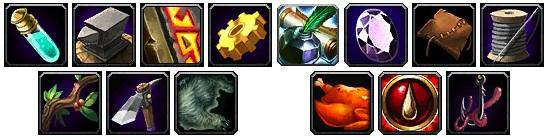 World of Warcraft Profession Overhaul Icons