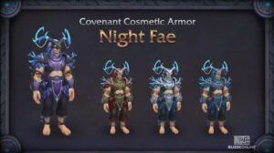 Shadowlands Blizzconline Covenant Cosmetic Armor Set Night Fae